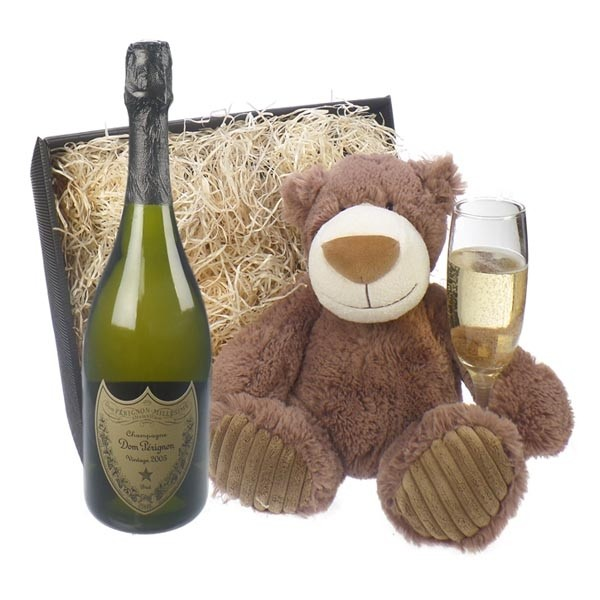 Don Perignon and teddy bear