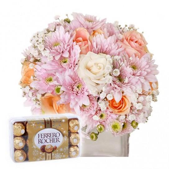 Fleurs et chocolat