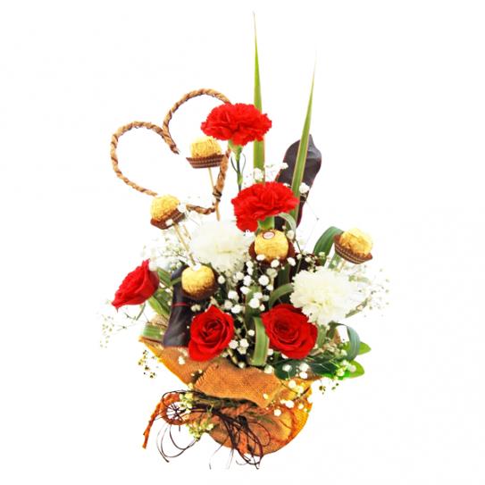 Sweet Valentine Flowers and Chocolate