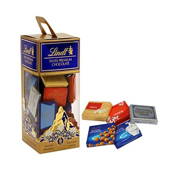 Box of assorted Lindt Swiss Premium Chocolate